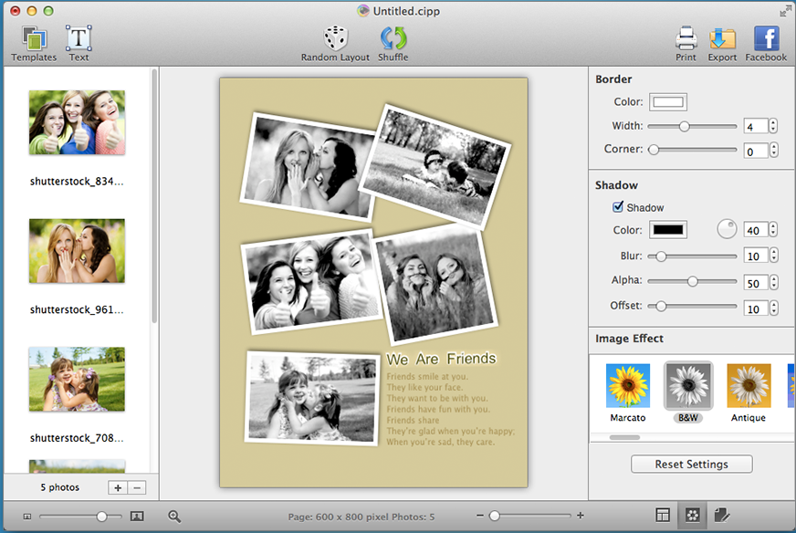 New CollageIt 3 for Mac