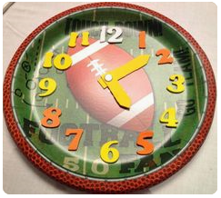 http://learningideasgradesk-8.blogspot.com/2014/01/football-theme-paper-plate-clocks.html