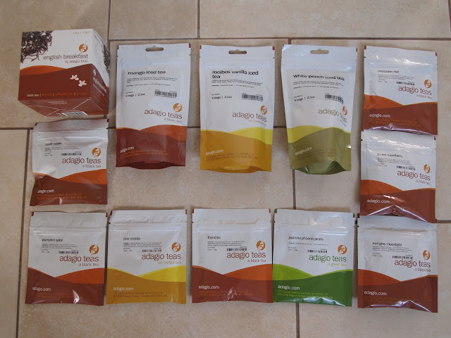 selection of teas from Adagio Teas