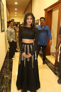 Hebah Patel The Cutest Fresh new South Actress in a lovely Black Choli ghagra at ERAR Audio Release