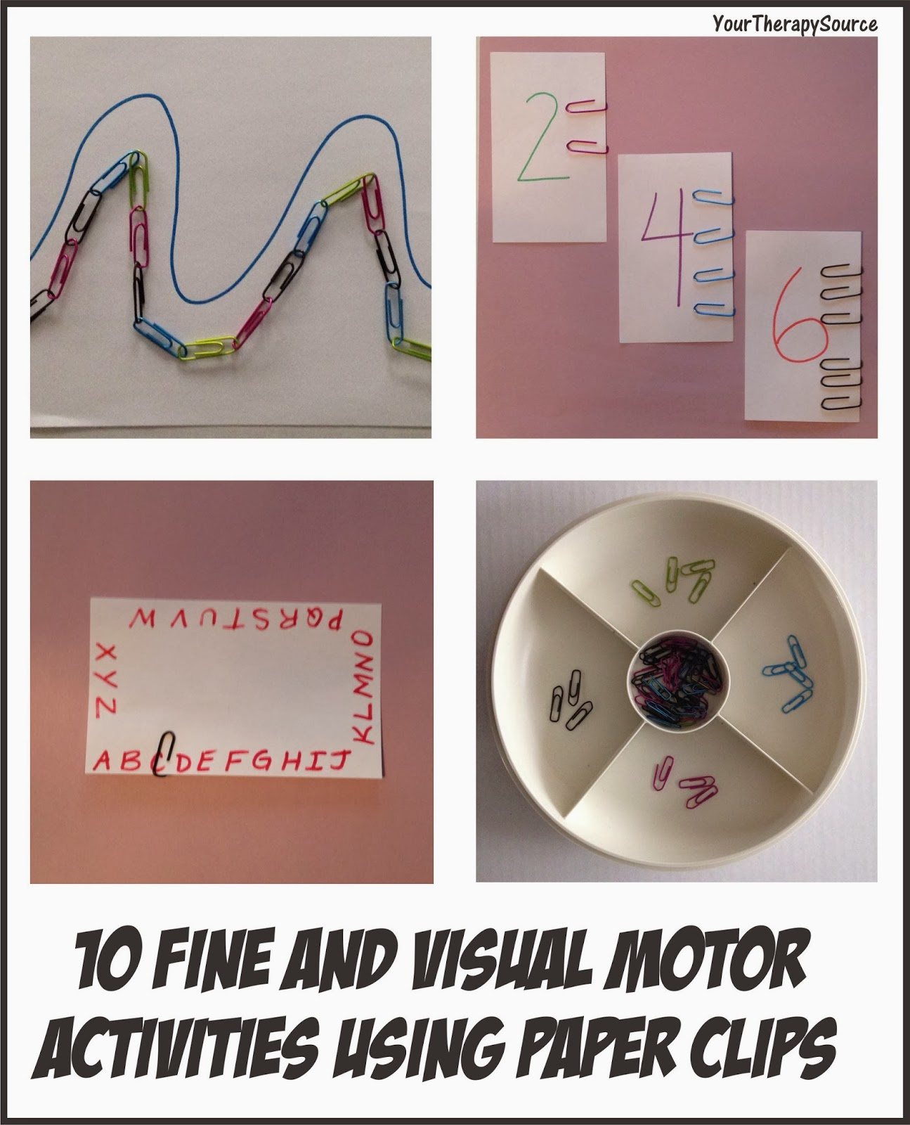 10 Fine And Visual Motor Activities Using Paper Clips Your Therapy Source