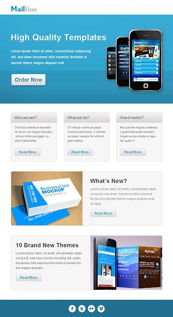 藍色商業電郵模板