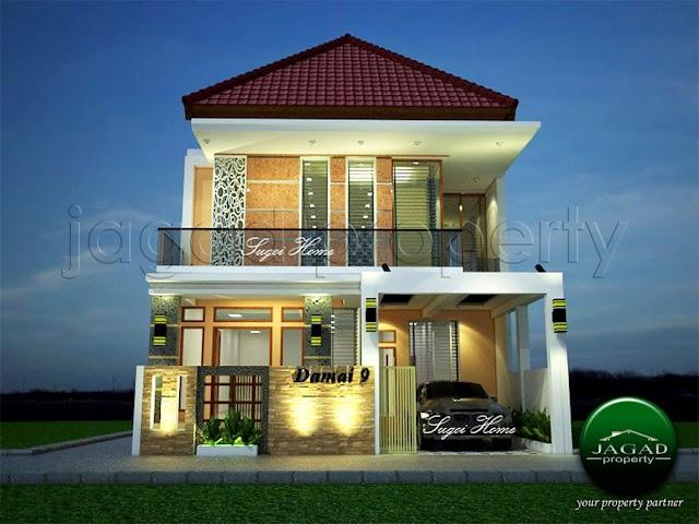 Rumah di jalan Damai Lempongsari