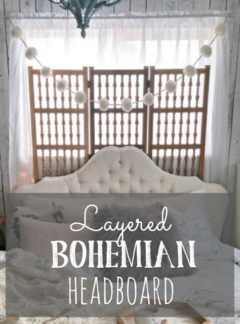 Creating a layered Bohemian headboard