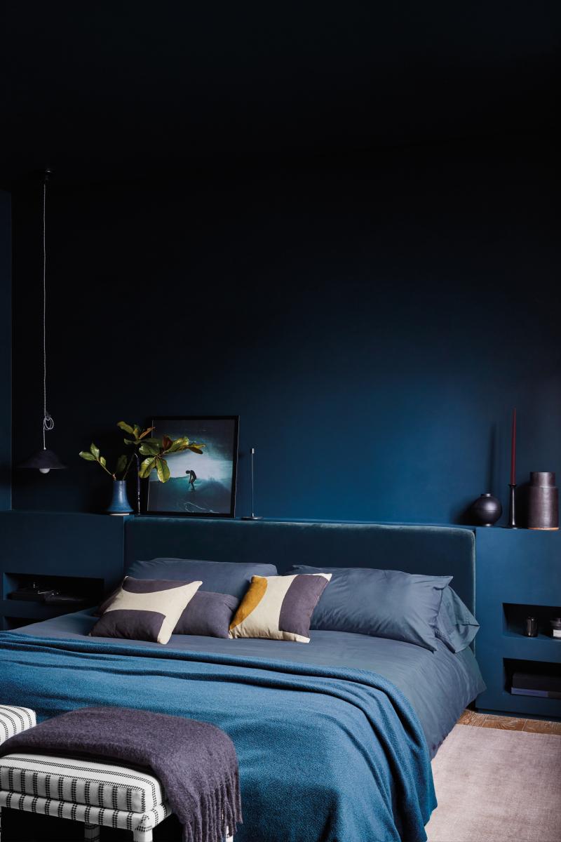 ilaria fatone_ garance doré home - bedroom in blue
