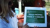Saúde sinaliza com novas placas a qualidade da água das fontes da cidade