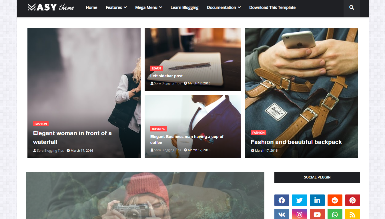 Masy - Responsive Blogger Template
