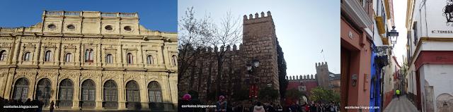 Viaje a Sevilla: Ayuntamiento, Alcázar y una de las muchas calles estrechas de Santa Cruz