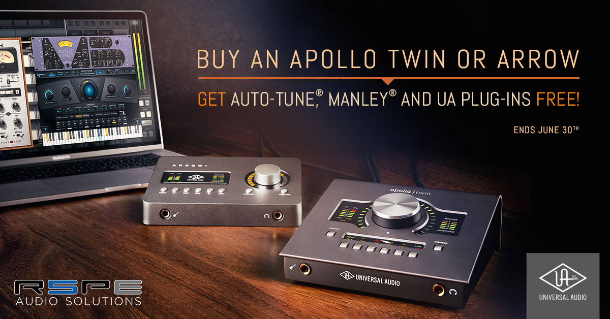 Buy UA Apollo Twin or Arrow, Get Free Plug-Ins!