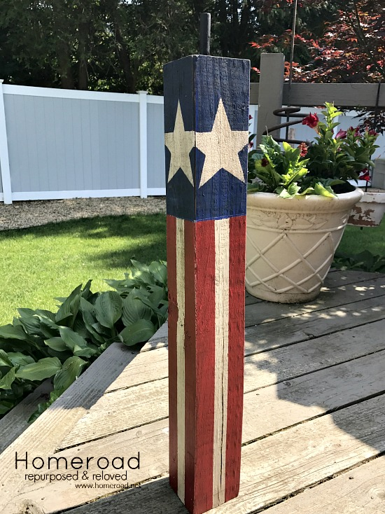 wooden 4x4 firecracker DIY