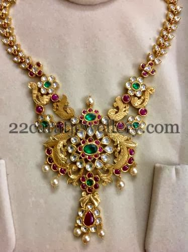 Floral Pachi Set By Abharam Jewelry Jewellery Designs