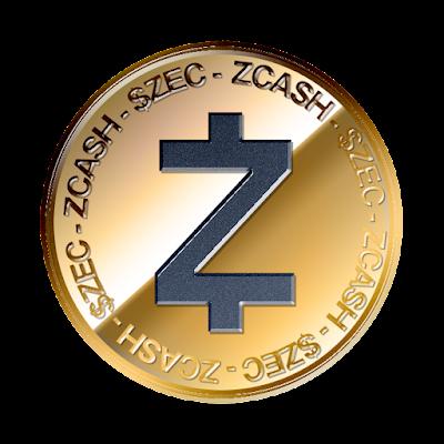 ジーキャッシュ(Zcash)のフリー素材(金貨ver)