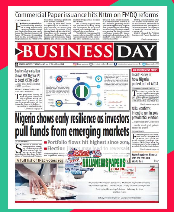 Nigerian newspapers papers online today