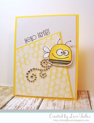 Hello Honey card-designed by Lori Tecler/Inking Aloud-stamps and dies from Paper Smooches
