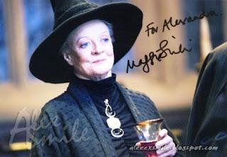 Maggie Smith Autograf, Autograph, Professor McGonagall Harry Potter