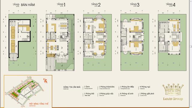 Thiết kế biệt thự Louis City Tân Mai