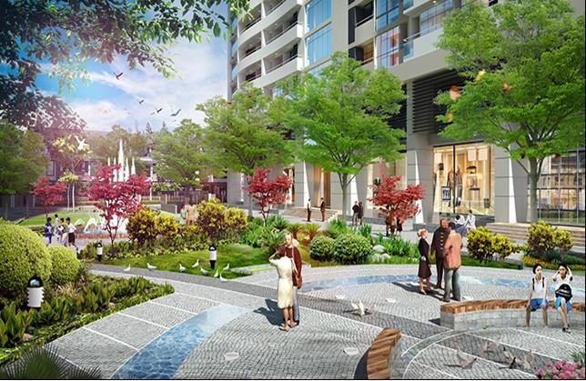Quảng trường tại chung cư An Bình City
