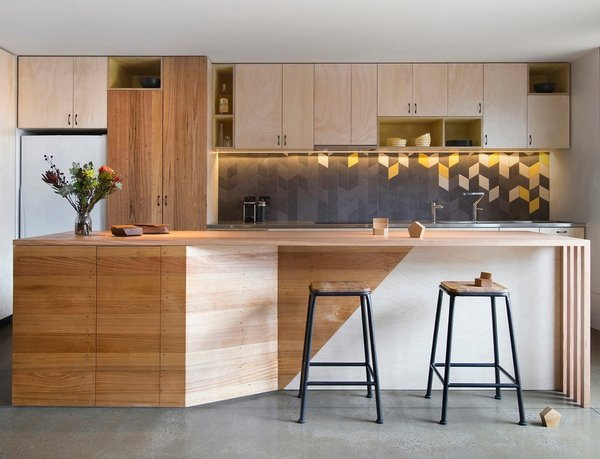 Modern Kitchen Cabinets Simple Lines Wood