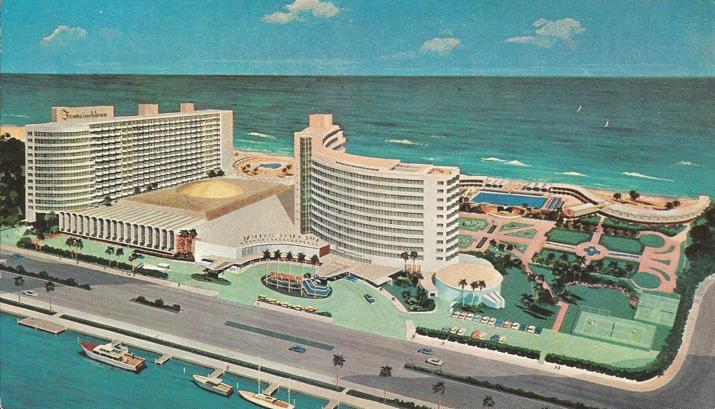 Fabulous Vintage Travel Postcards: Fountainebleau Hotel - Miami Beach, Florida DU69
