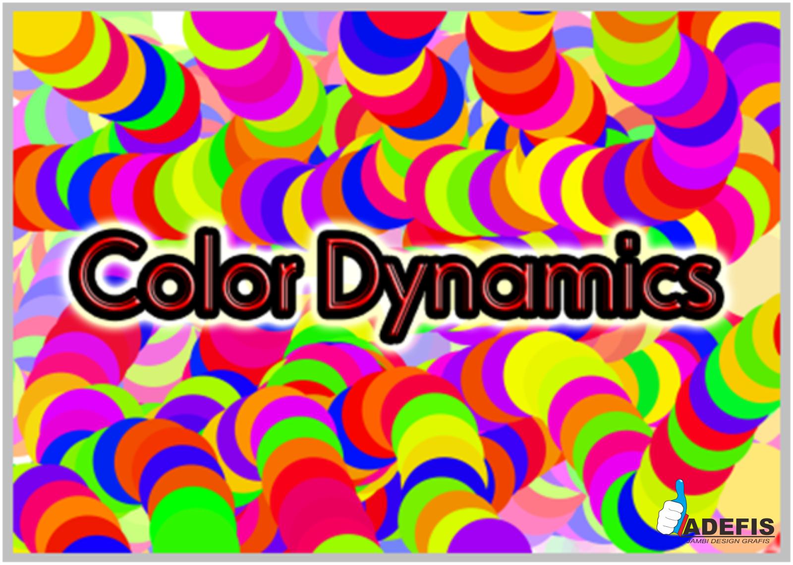 Membuat Background Warna Warni Efek Color Dynamics Tinggal Menarik Kesana