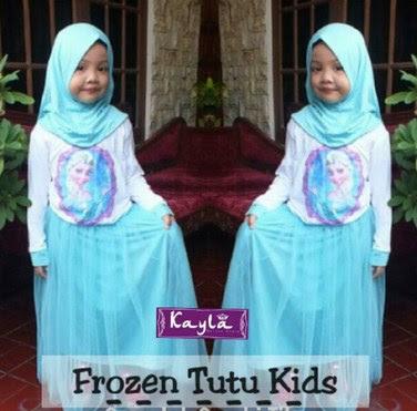 Model Baju Muslim Gambar Frozen Untuk Anak Perempuan Terbaru