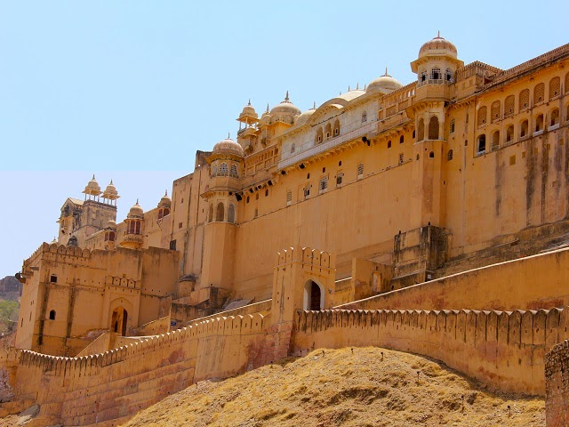 Amer Fort in Jaipur, Rajasthan  IMAGES, GIF, ANIMATED GIF, WALLPAPER, STICKER FOR WHATSAPP & FACEBOOK