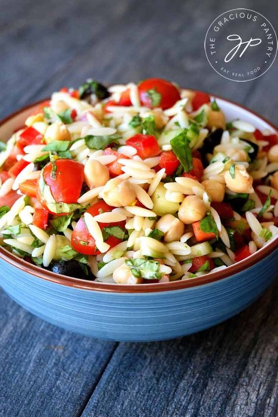 Clean Eating Tuscan Orzo Salad