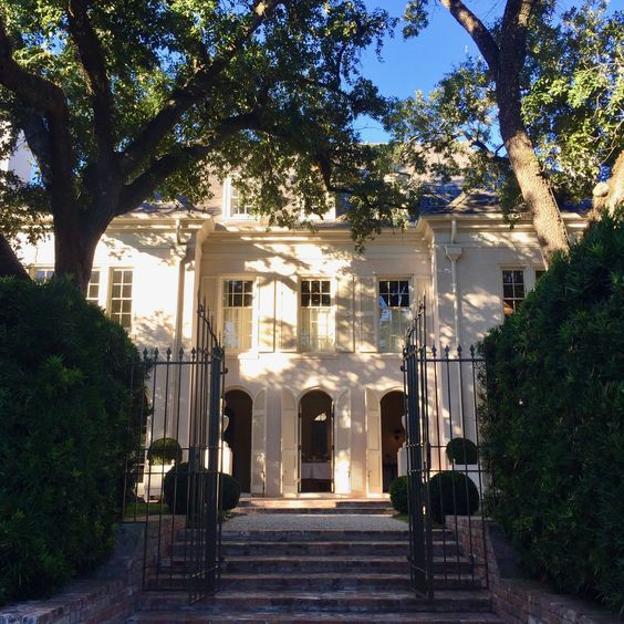 Pamela Pierce designs exterior white Houston home