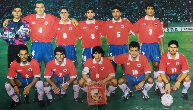 Formación de Chile ante México, amistoso disputado el 29 de marzo de 1995
