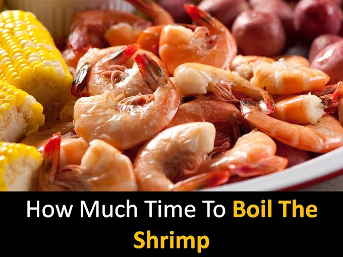 How much time to boil the shrimp