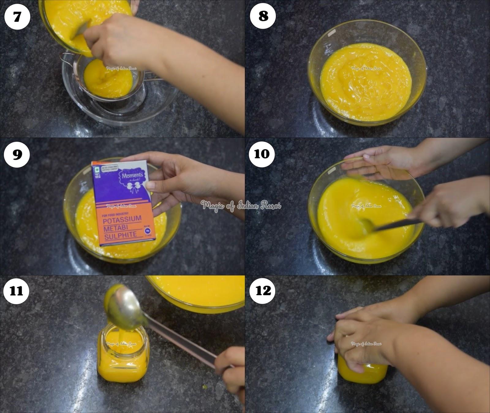 Mango Pulp Juice Recipe - मैंगो जूस साल भर स्टोर करे रेसिपी - Priya R - Magic of Indian Rasoi
