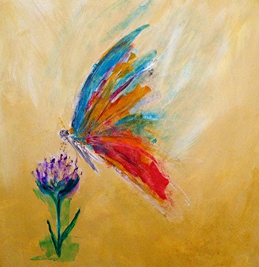 Candace French Abstract Art: Abstract Butterfly Flower Art ...