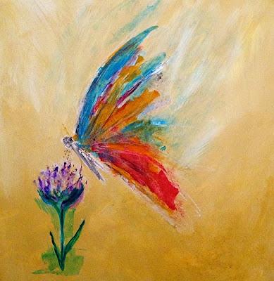 Resultado de imagem para painting butterfly