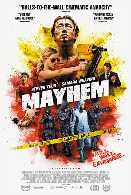MAYHEM comes to the UK on digital 18 June and DVD 16 July