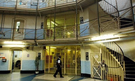 Wandsworth Prison Rotunda - stairs between D Wing and E Wing.  (Photograph by Martin Godwin from The Guardian)