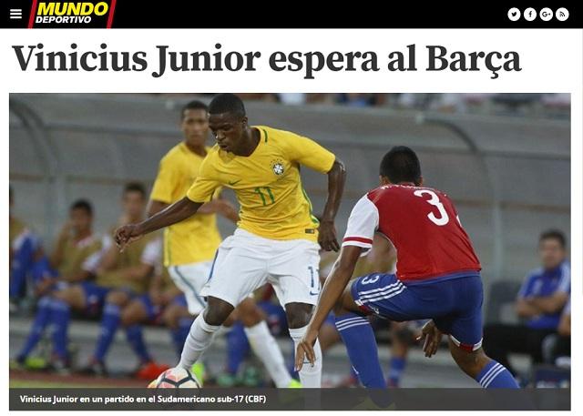Barcelona mantém espera por Vinicius Júnior 3c5c0e2e1f692