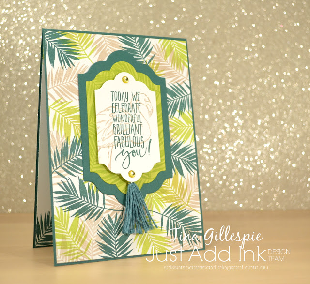 scissorspapercard, Stampin' Up!, Just Add Ink, Fabulous Flamingo, Picture Perfect Birthday, Lots Of Labels