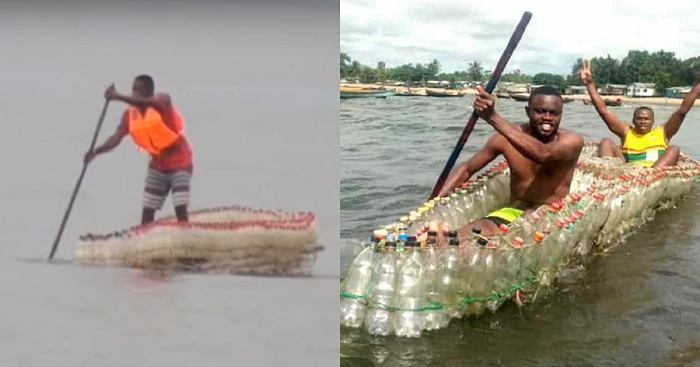 Cameroon Activist Transforms Littered Plastic Bottles Into 'EcoBoats'