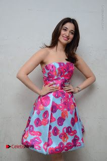 Actress Tamanna Latest Images in Floral Short Dress at Okkadochadu Movie Promotions  0102.JPG