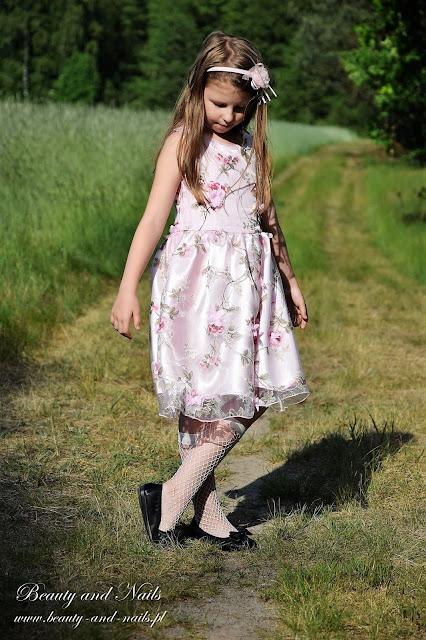 BANGGOOD różowa sukieneczka dla dziewczynki.