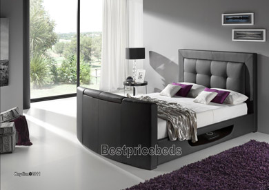 Kaydian Stanton Leather Tv Bed Frame There Has Never Been A Better Time To Purchase Following On From The Enormous Success Of Bowburn