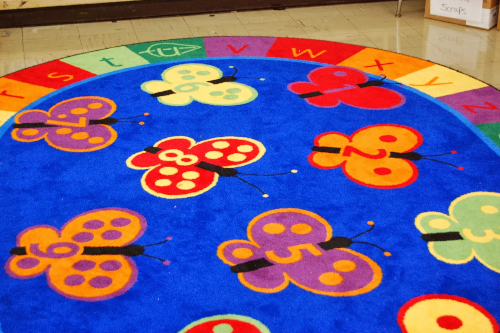 Ladybug floor mat at JF Kennedy School