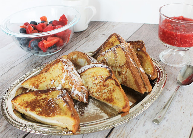 Stuffed French Toast with Raspberry Sauce