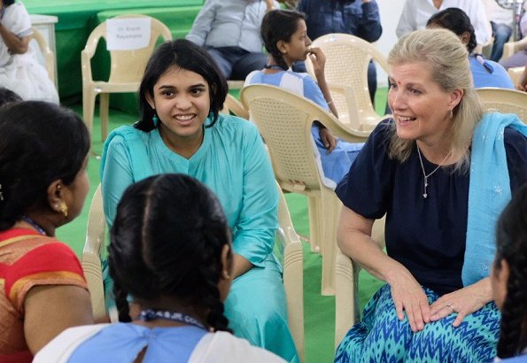 The Countess of Wessex met with 2018 Queens Young Leaders Award winners Deane and Aditya in Mumbai