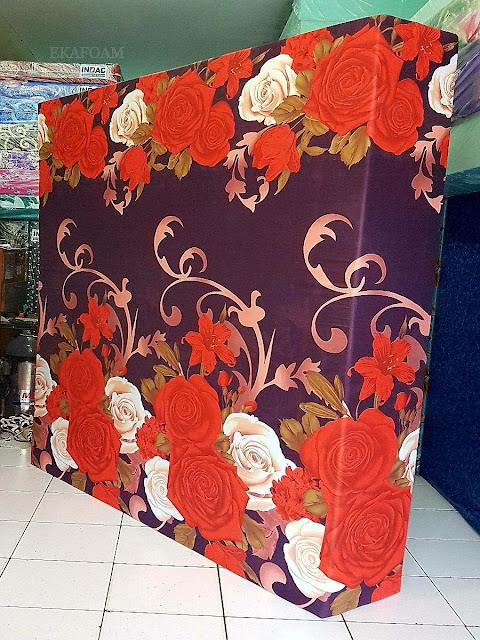 Kasur inoac motifBunga rose mery coklat