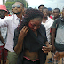 Lobatan! This 419 woman caught and beaten in Benue state...photo