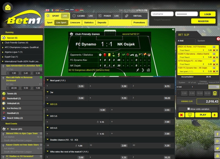 Betn1 Live Betting Offers