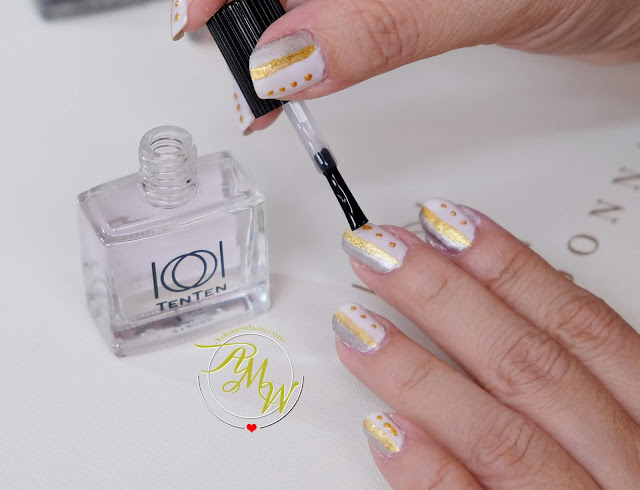 a photo of Bridal-inspired nail art tutorial with TenTen Bella Donna Collection