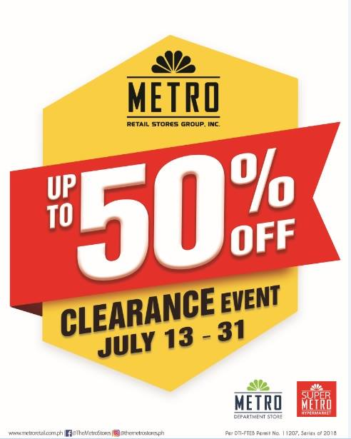 Manila Shopper Metro Stores Clearance Sale July 2018