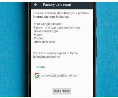 Lakukan reset data pabrik pada ponsel cerdas Anda